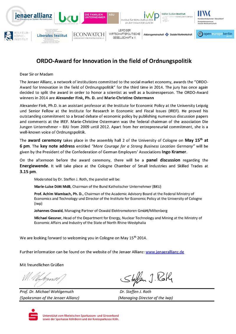 ORDO-Award 2014