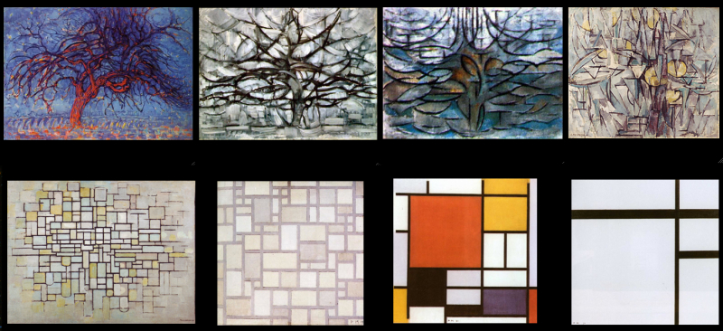 Mondrian, Trees to abstraction 2