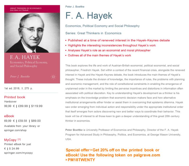 Hayek Book Discount